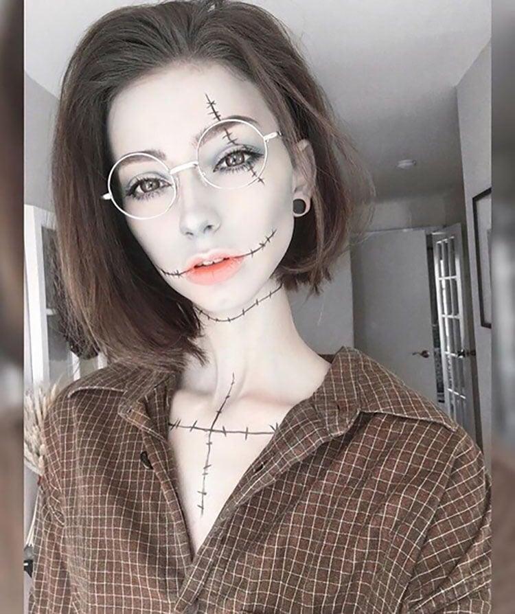 nightmare before christmas makeup