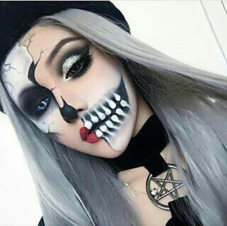 half and half makeup design
