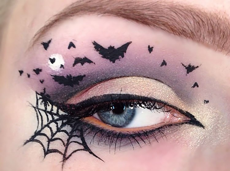 bats and spider webs on eyes