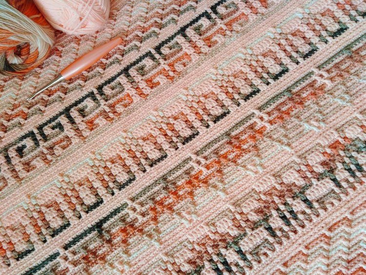 MYSTERIOUS MOSAIC BLANKET