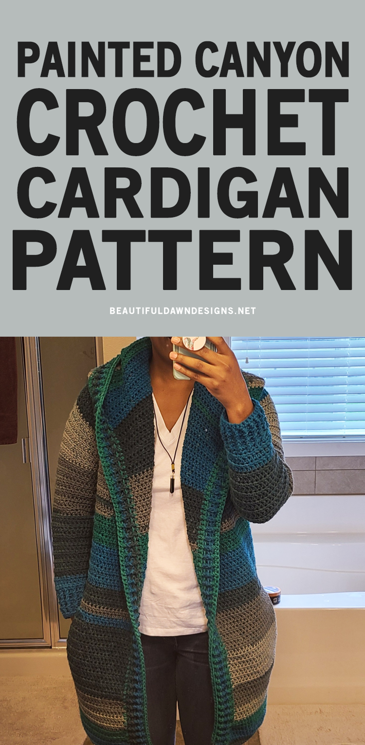 PAINTED CANYON CARDIGAN CROCHET SWEATER