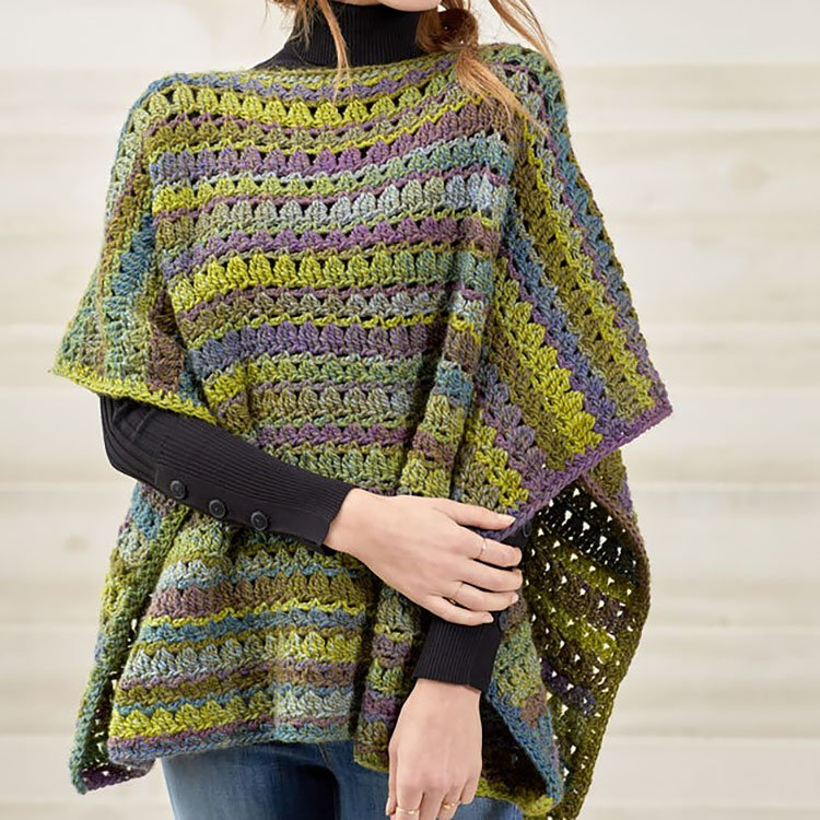 RED HEART PERFECT PONCHO