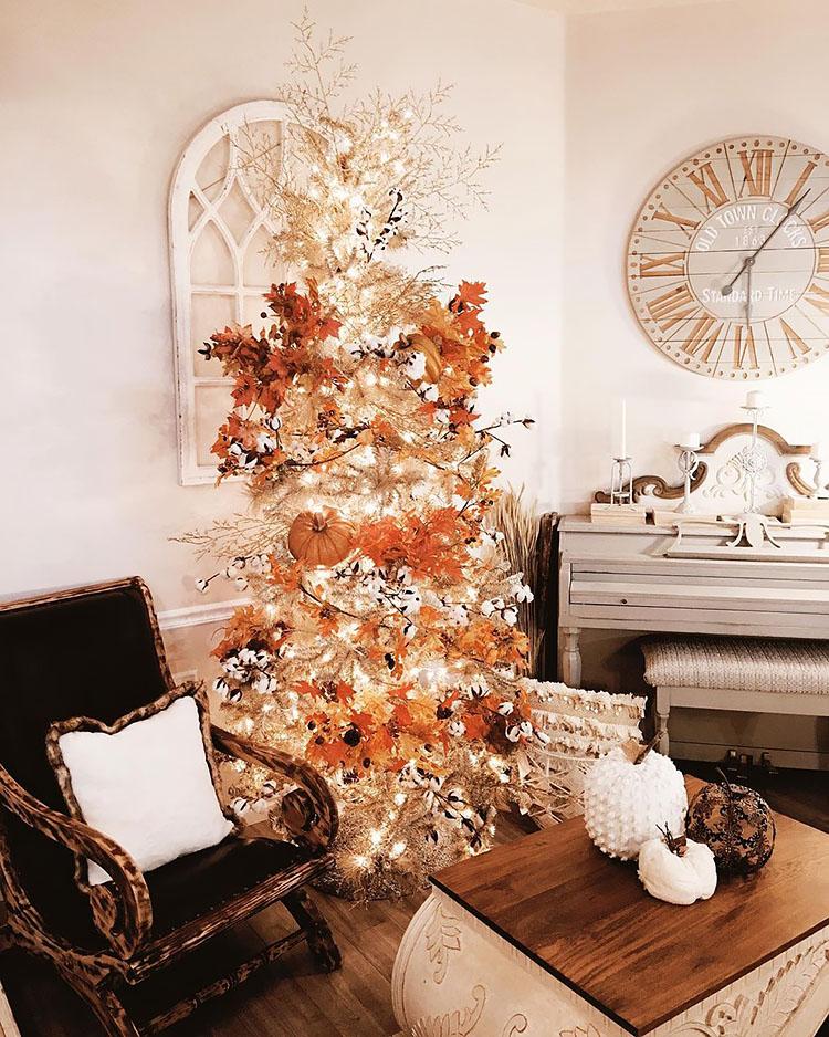 white thanksgiving tree