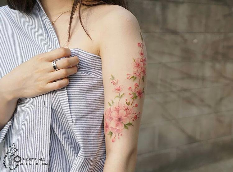 flower on arm