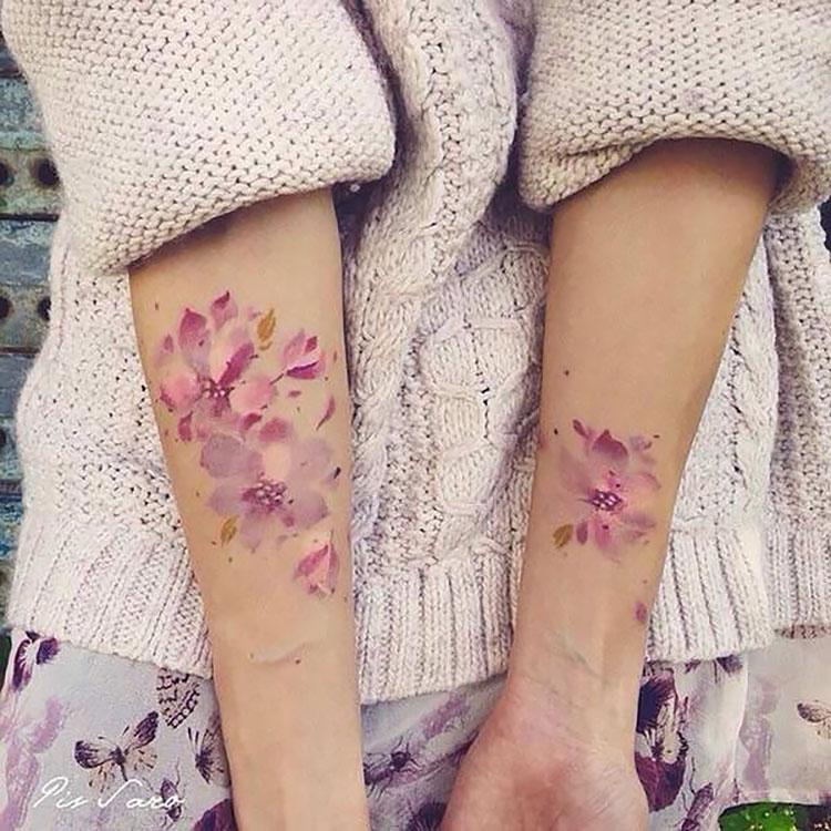 flowers on inner arm