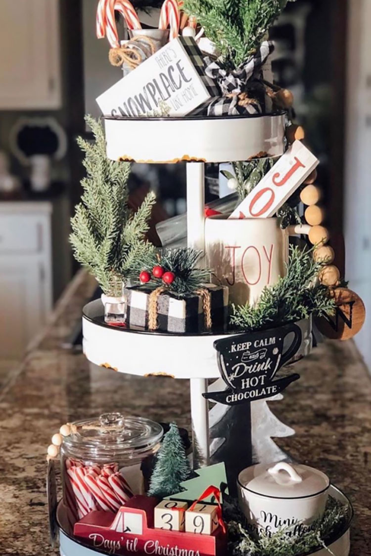 TWO-TIER CHRISTMAS TRAY