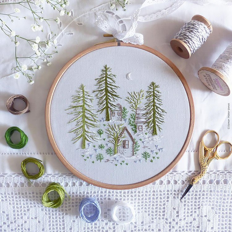 SNOWY NIGHT EMBROIDERY KIT