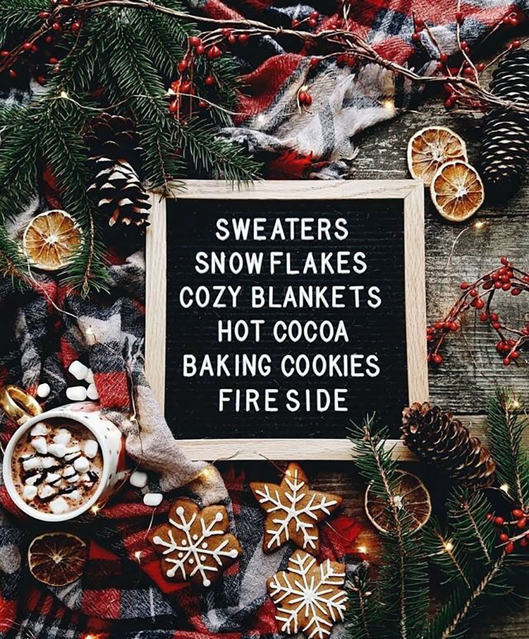 HOLIDAY LETTERBOARD QUOTE