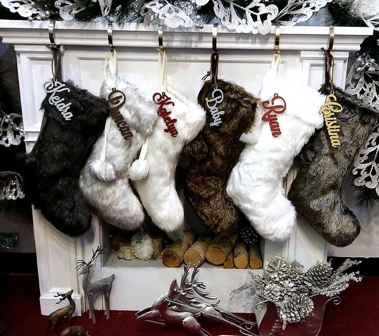 FAUX FUR CHRISTMAS STOCKINGS