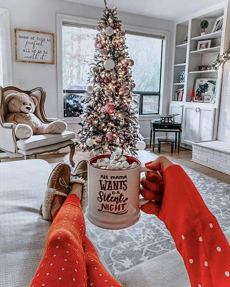 ALL MAMA WANTS FOR CHRISTMAS MUG BY CHRISTMAS TREE