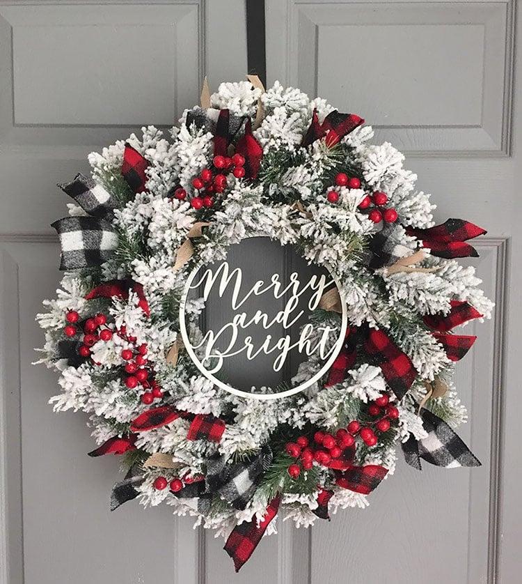 BUFFALO CHECK CHRISTMAS WREATH