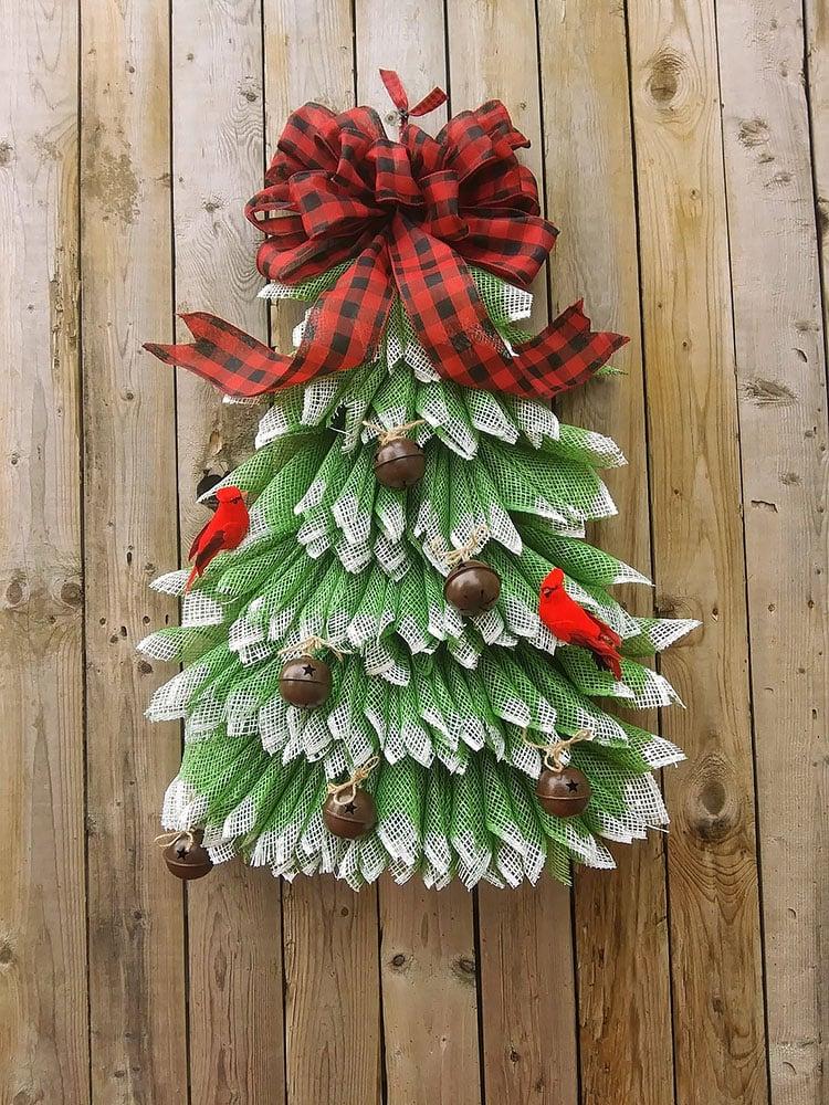 CHRISTMAS TREE DOOR WREATH