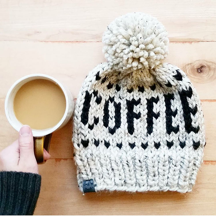 knitted hat patterns coffee hat