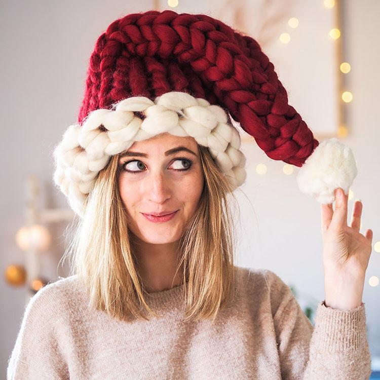 knitted hat patterns santa hat