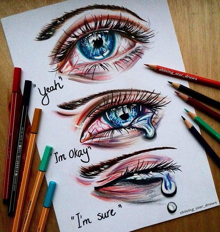 CRYING EYES DRAWING