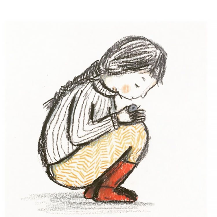 GIRL WITH RED BOOTS