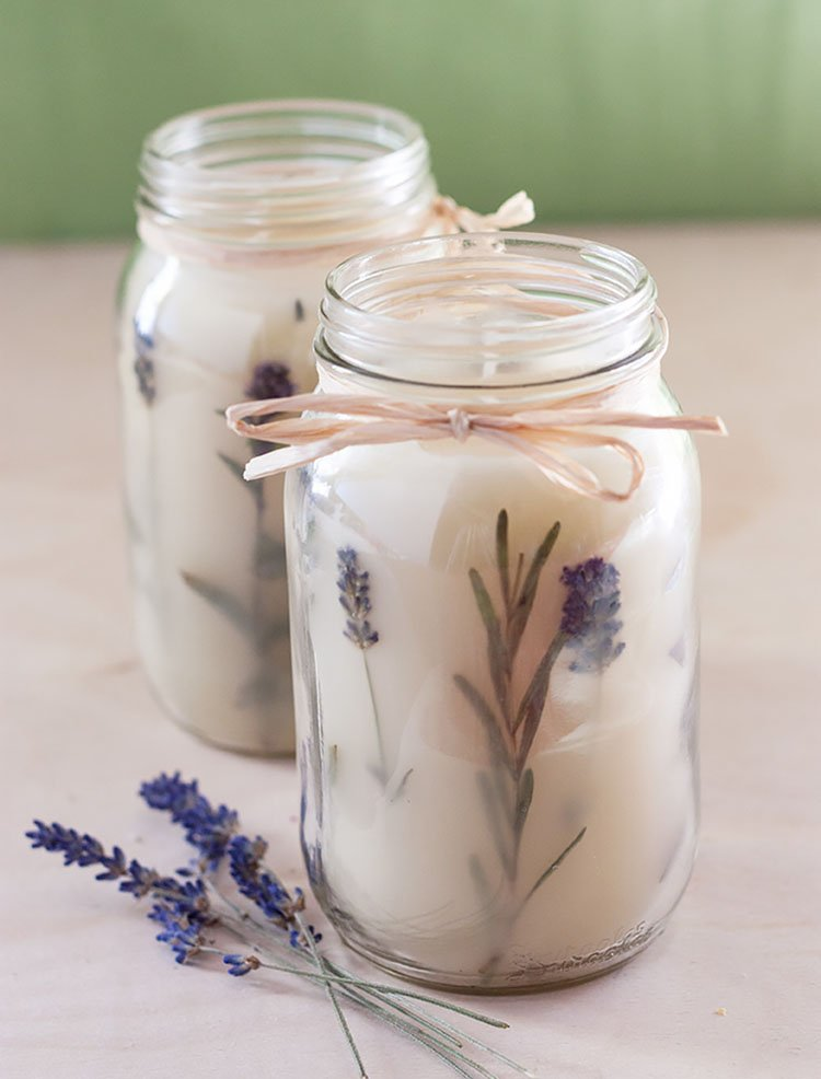 ROSEMARY PRESSED HERB CANDLES