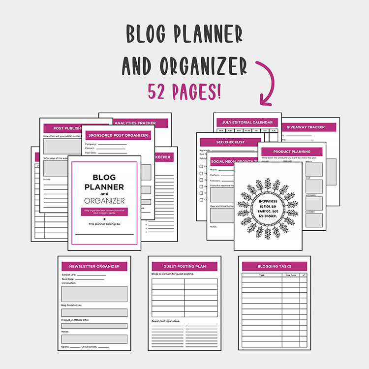 BLOG PLANNER AND ORGANIZER