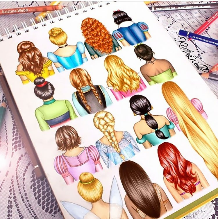 DISNEY PRINCESSES HAIRSTYLES