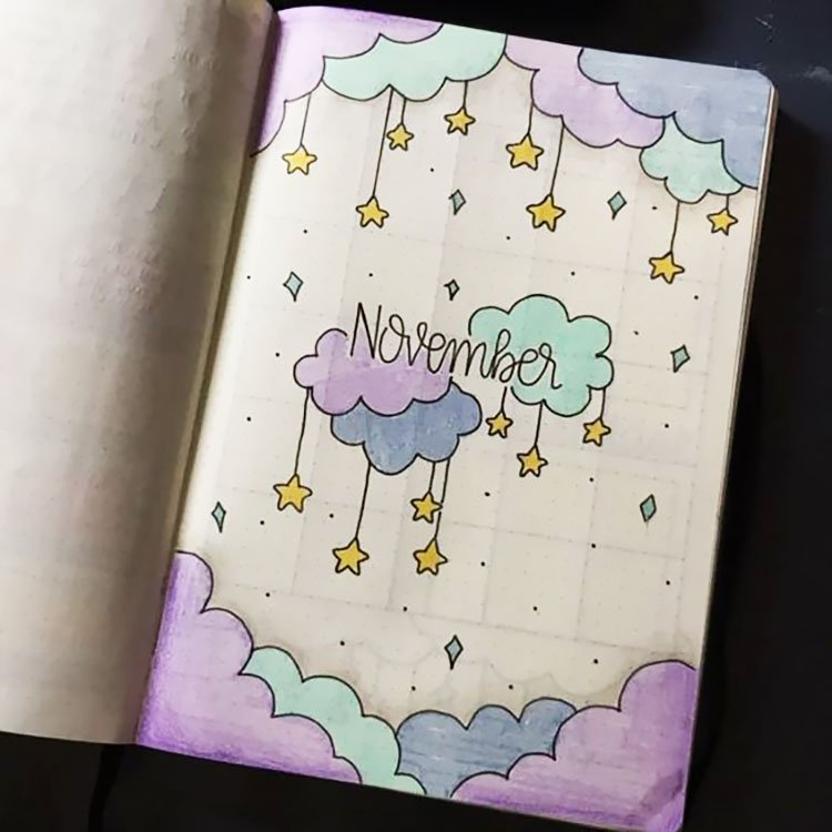 NOVEMBER WITH CLOUDS AND STARS