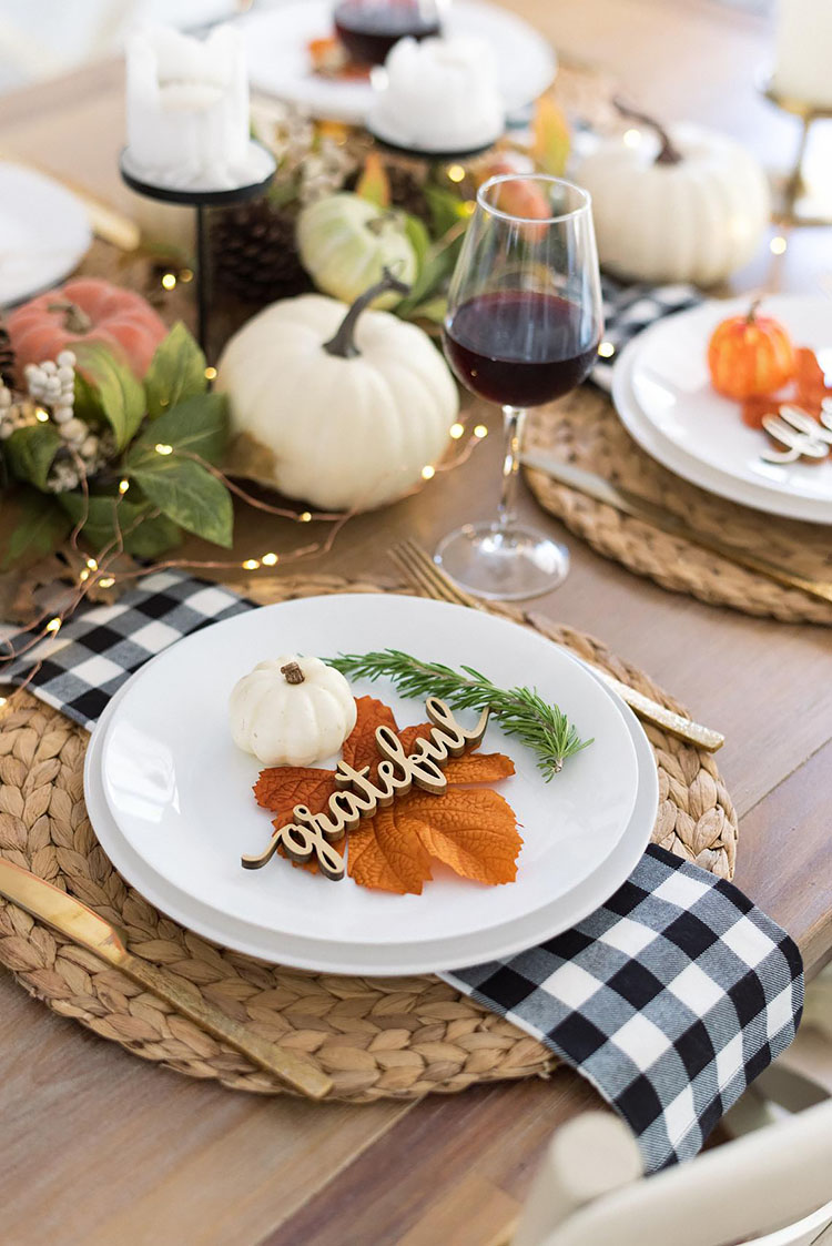 THANKSGIVING PLACE SETTING CARD