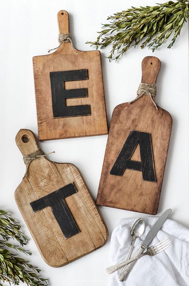 DIY KITCHEN EAT/TEA BOARDS