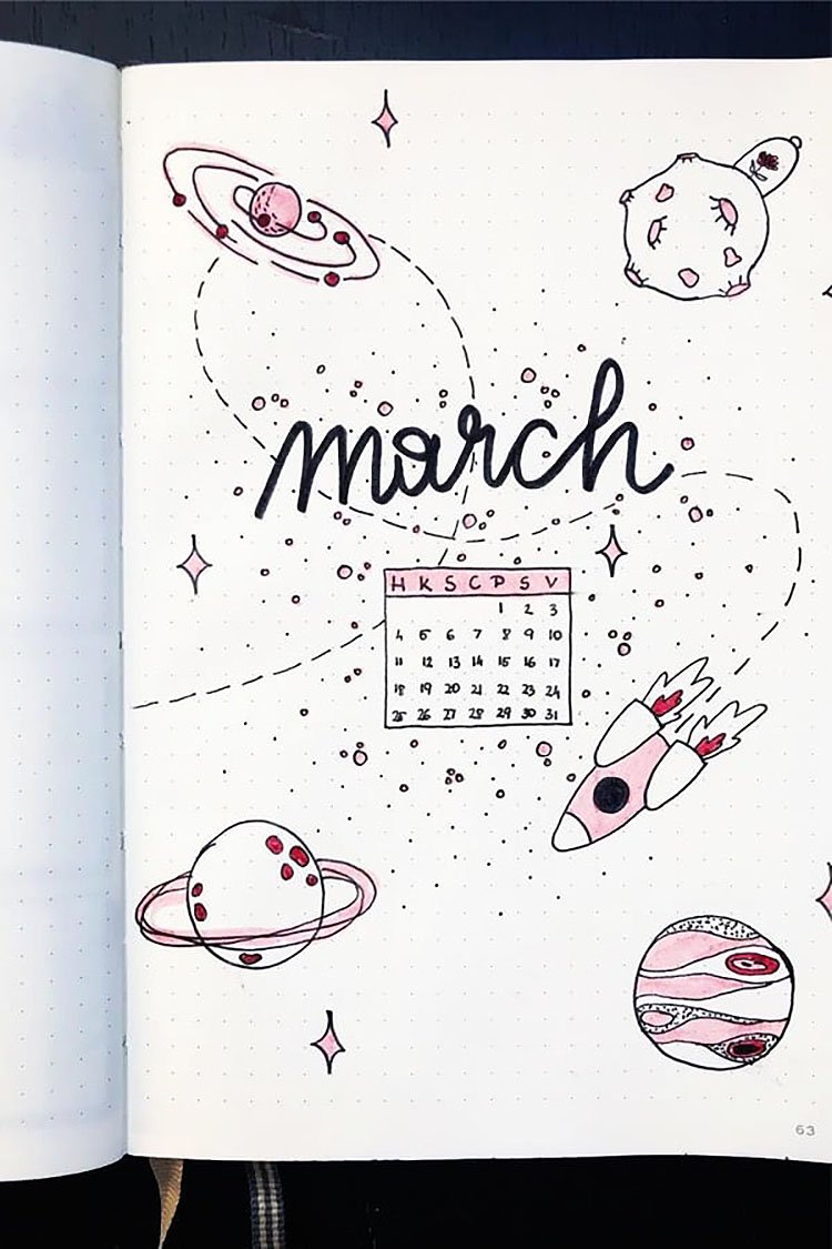 OUTER SPACE March Cover