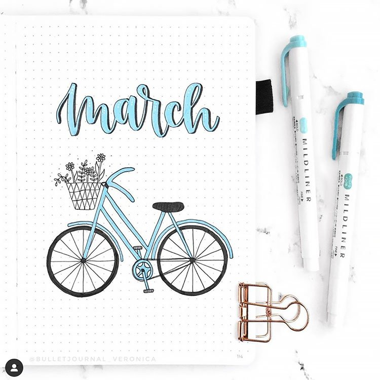 BLUE BICYCLE March cover page
