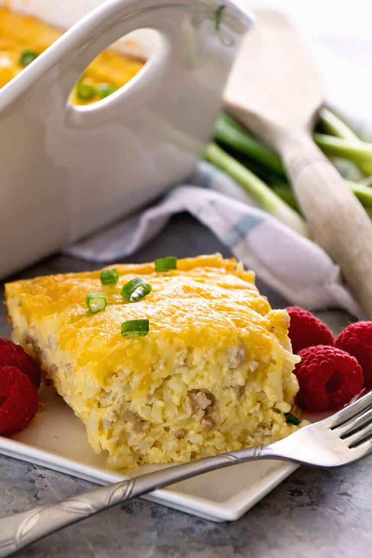 Sausage and Cheese Hashbrown Breakfast Casserole