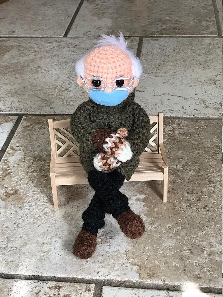 BERNIE'S MITTENS CROCHET DOLL