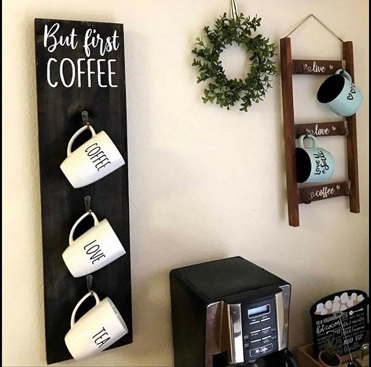COFFEE MUG HANGER coffee bar