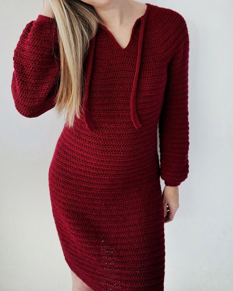 THE ROSE CLOUD SWEATER DRESS