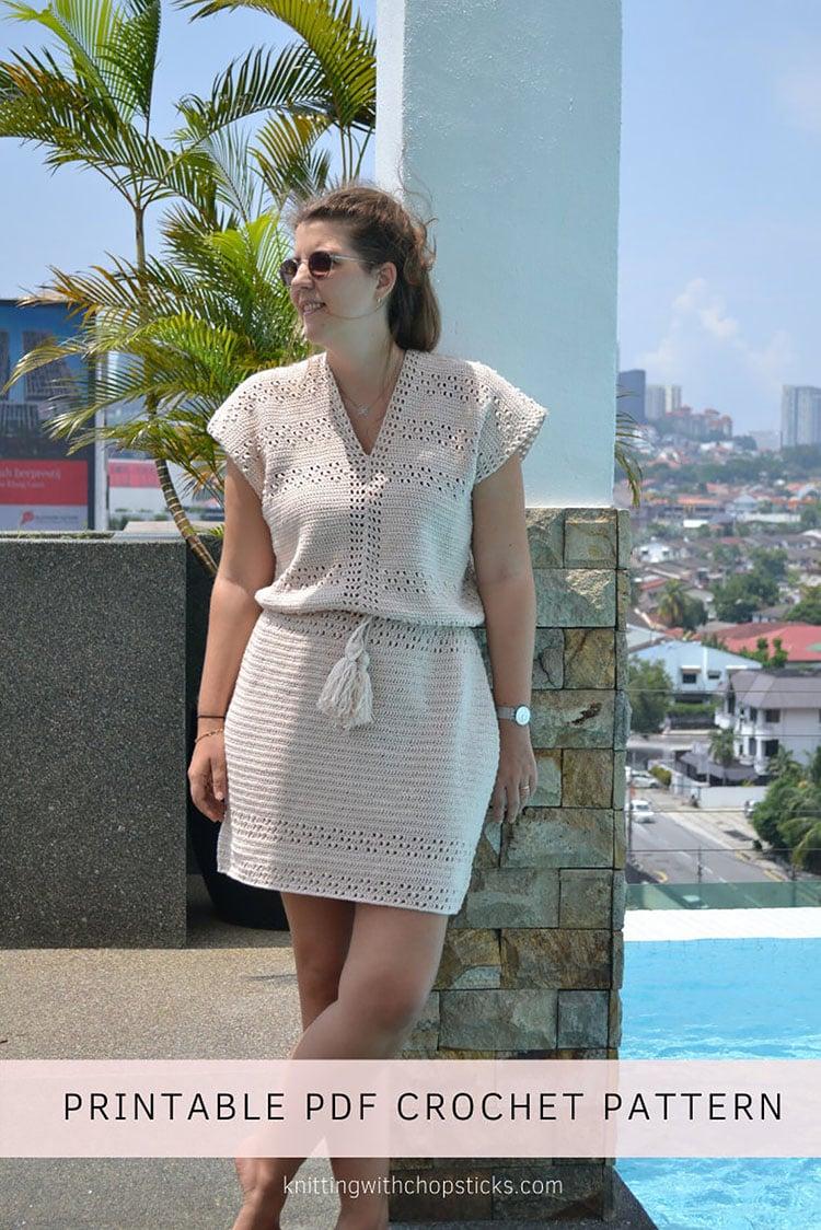 PRETTY SPRING crochet dress