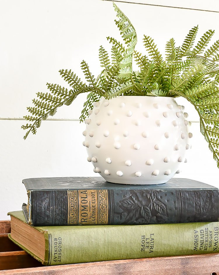 HOBNAIL MILK GLASS DIY