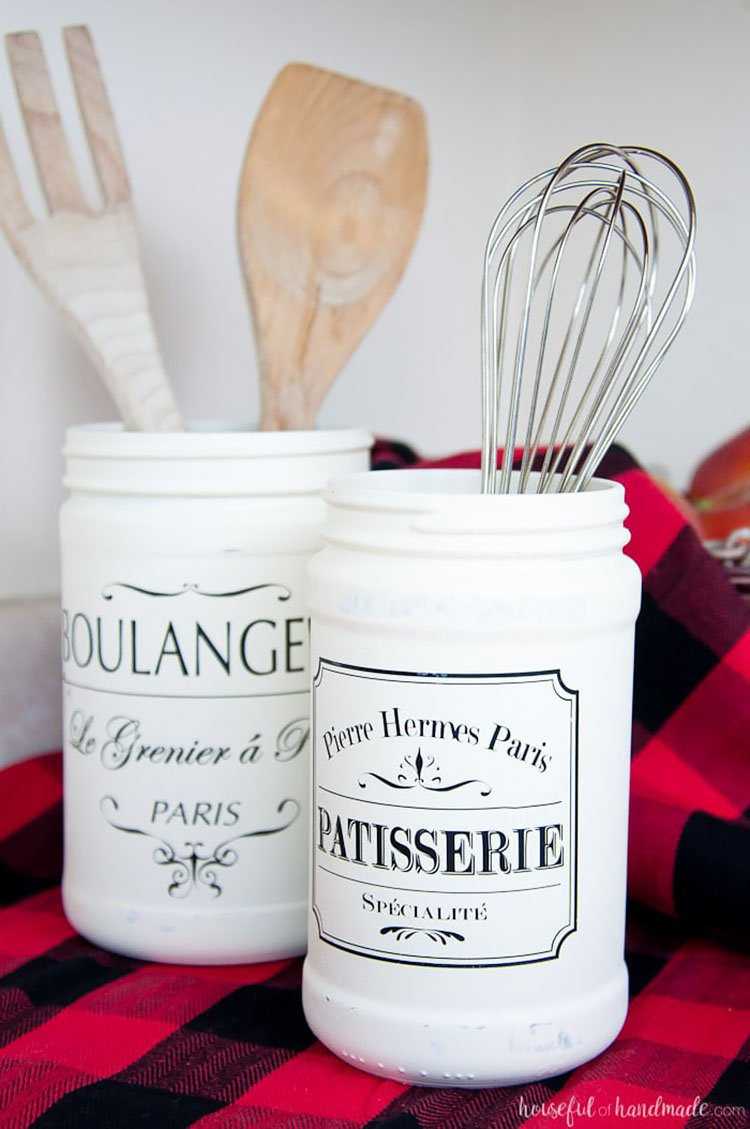 DIY FARMHOUSE KITCHEN CANISTER