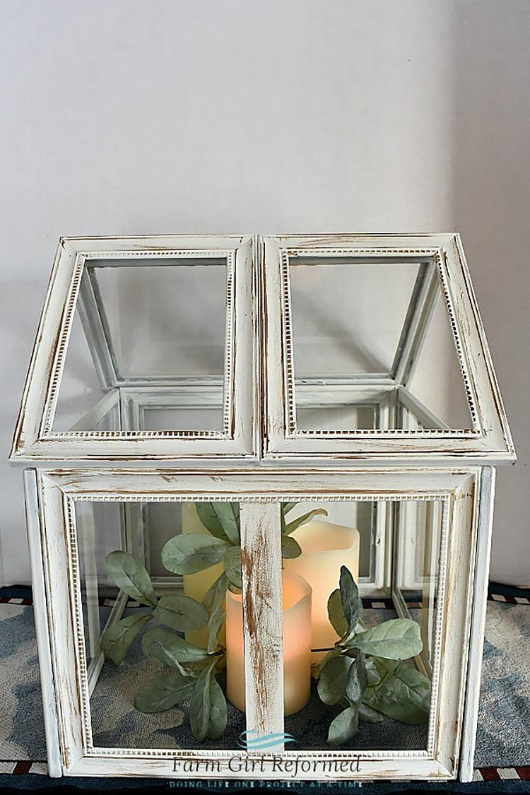 SPRING TERRARIUM WITH DOLLAR TREE FRAMES