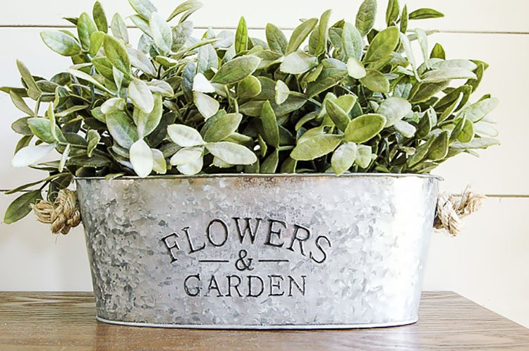 AGED GALVANIZED DOLLAR TREE PLANTERS