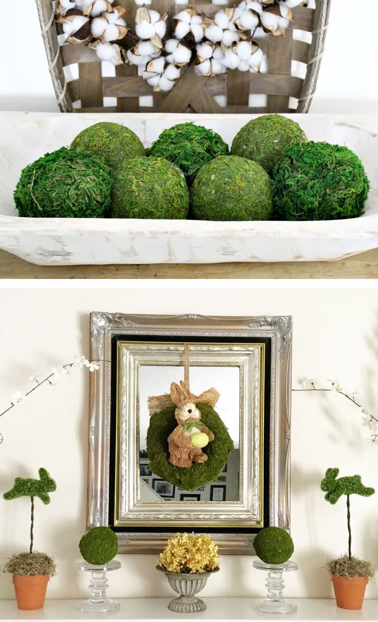 GORGEOUS MOSS BALLS FROM DOLLAR STORE FINDS