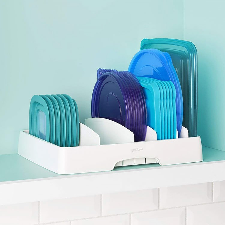ORGANIZE YOUR FOOD CONTAINER LIDS