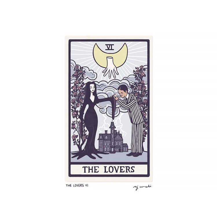 THE LOVERS VI TAROT CARD ART