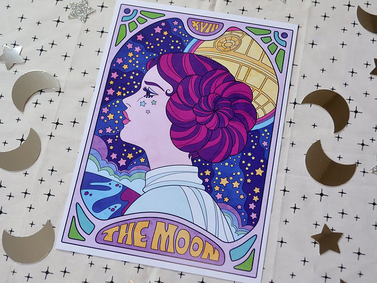 THE MOON ART PRINT Star Wars