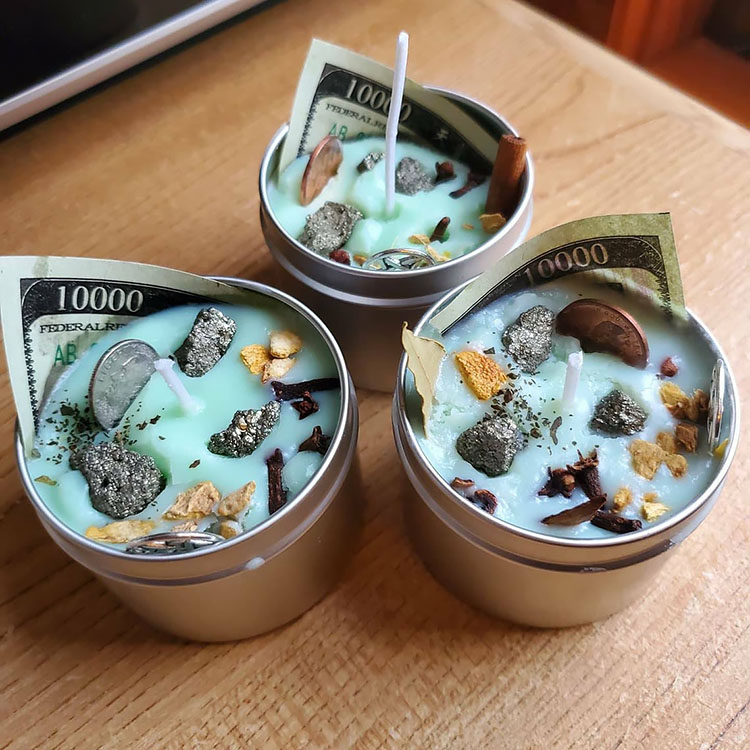 money intention candle for manifesting