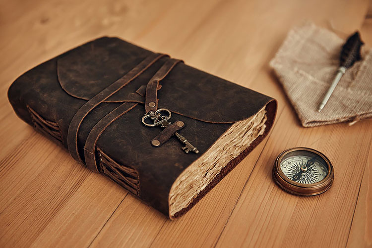 leather journal for manifesting and scripting