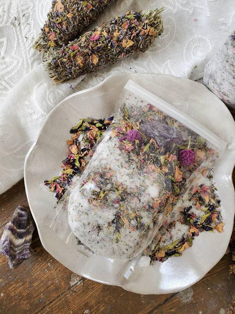 diy ritual herbal bath soak