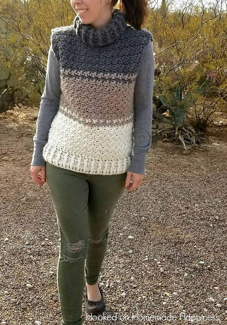 THE COWL SWEATER VEST