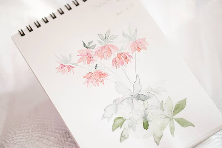 watercolor floral painting
