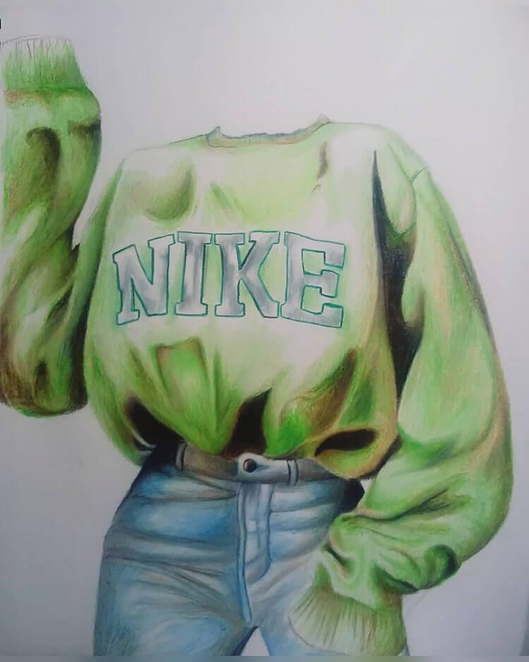 green nike sweater