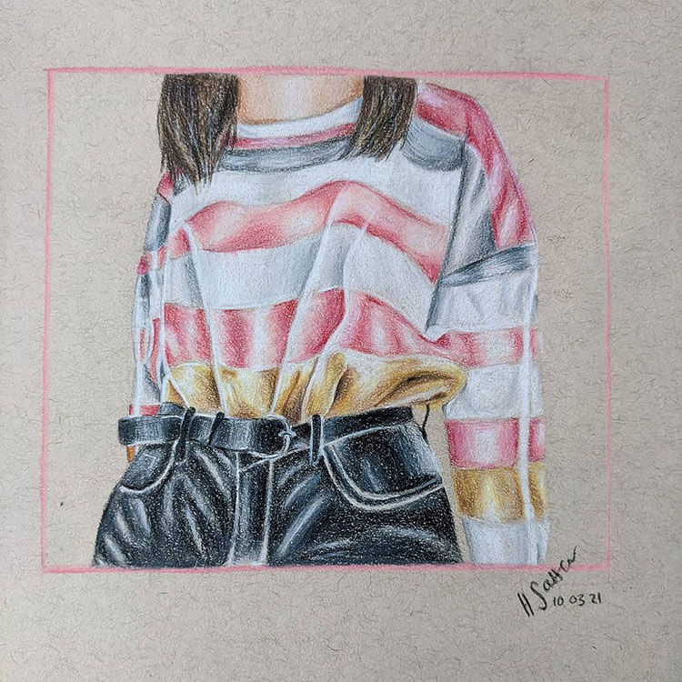 striped sweater for woman outfit