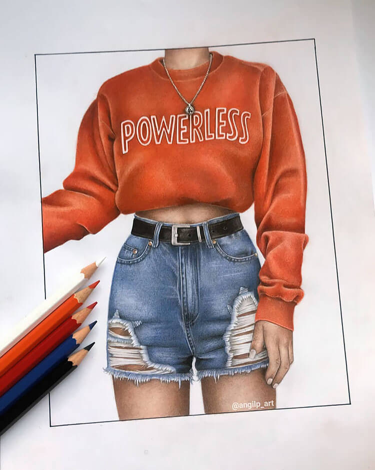 sweater that says powerless