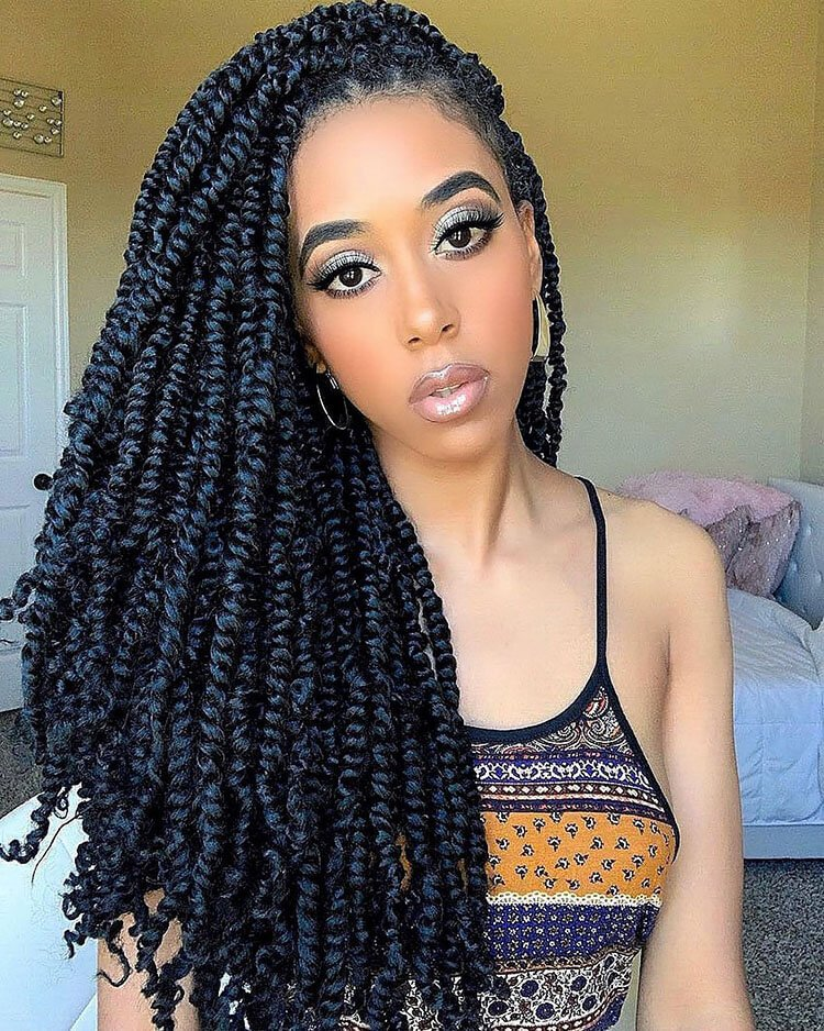 Senegalese Twist Hairstyles thick hair